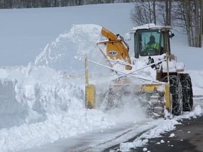 Уборка снега мотокультиватором крот